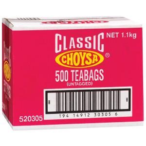 Choysa Classic Tagless Tea Bags Carton 500