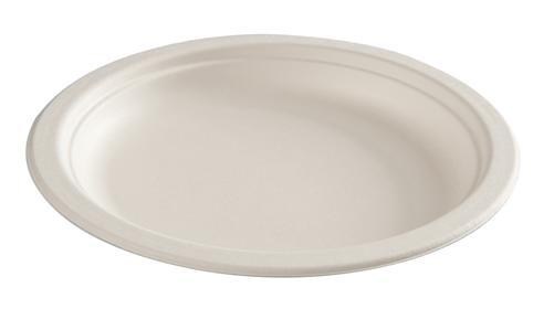 Green Choice Sugarcane 23cm Dinner Plate Cream Pkt 50