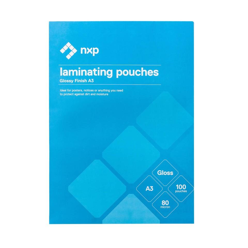 NXP Gloss Laminating Pouches 80 Micron A3 Pack 100