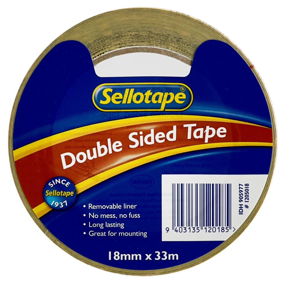 Sellotape 1205 Double-Sided Tape 18x33m