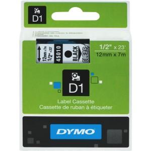 Dymo D1 Label Printer Tape 12mm x 7m Black On Clear
