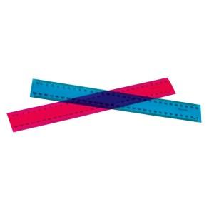 30cm Fluorescent Clear Plastic Ruler