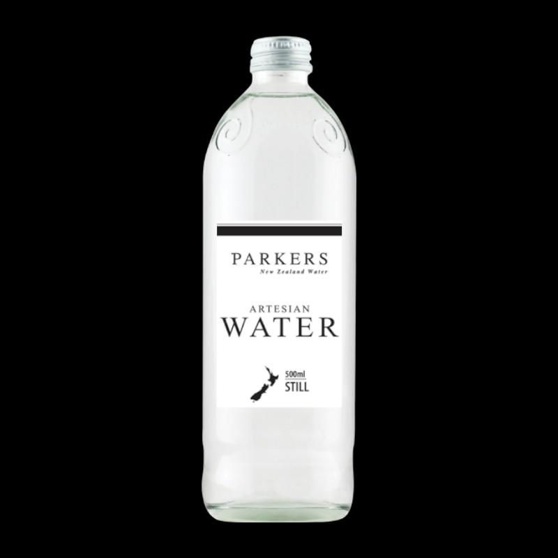 Parkers Water 500ml Glass Bottle Still Case 12 Bottles