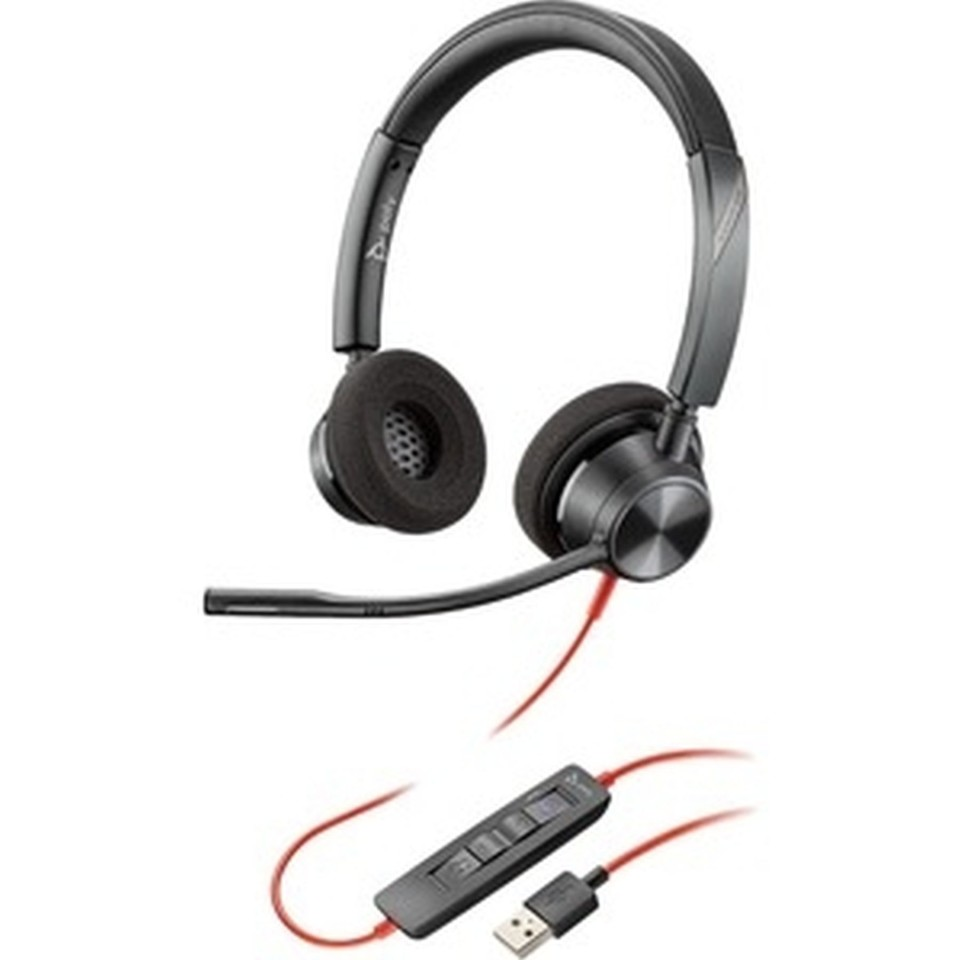Plantronics Blackwire 3220-m Uc Usb-a Stereo Wired Headset