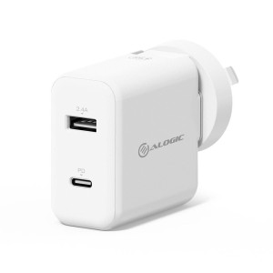 Alogic 2 Port Usb-c And Usba 30w Wall Charger