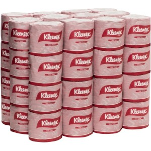 Kleenex Toilet Tissue Roll 2 Ply White 400 Sheets per Roll 4735 Pack of 48