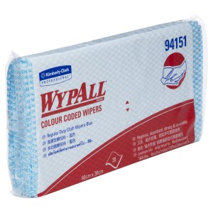 WypAll Regular Duty Cloth Wipers 94151 60cm x 30cm Blue Pack of 20