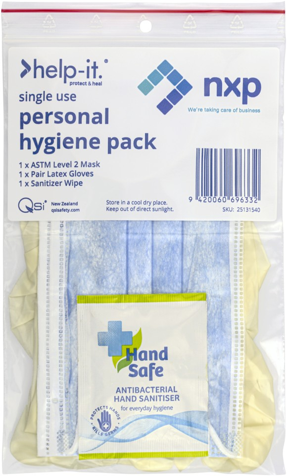 Single Use Personal Hygiene Pack