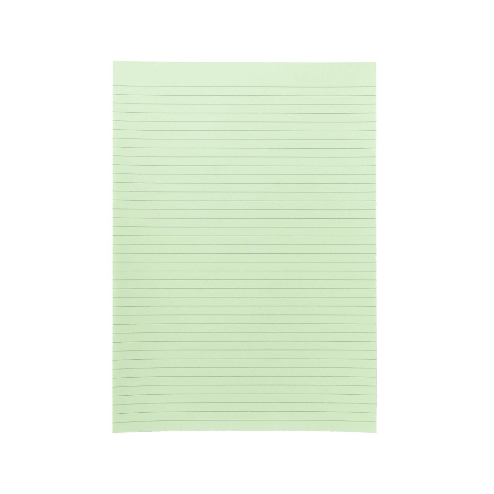 NXP Topless Writing Pad A4 Ruled Green