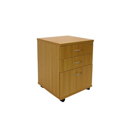 Haswood 2-drawer And File Mobile Storage Unit Beech