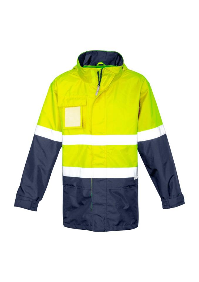 Syzmik Zj357 Mens Ultralite Waterproof Jacket Yellow/navy 4XL