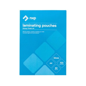 NXP Laminating Pouches Gloss 80 Micron A4 Pack 100