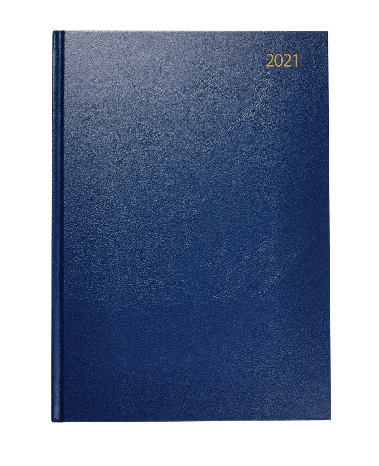 NXP 2021 Hardcover Diary A5 Day To Page Navy