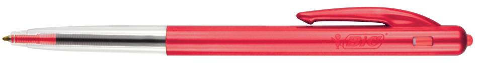 BIC Clic Medium Ballpoint Pen Retractable 1.0mm Red Box 10