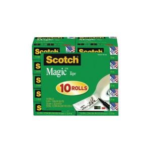 Scotch Magic Tape  810 19mm X 33M Value Pkt 10