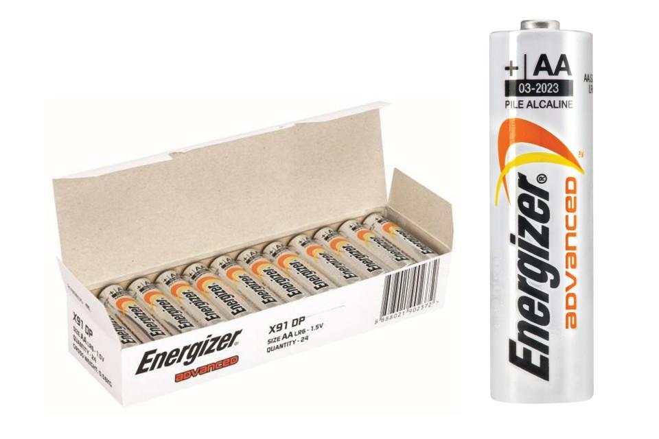 Energizer Advanced Alkaline AA Battery Pack 24