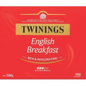 Twinings English Breakfast Tagless Tea Bags Packet 100