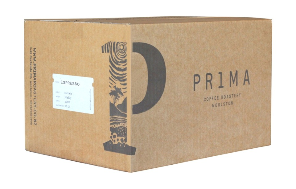 Prima Espresso Fresh Ground Coffee Sachets 50g Box 50
