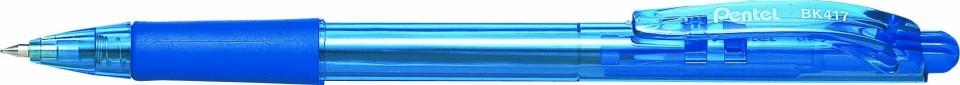 Pentel Wow Ballpoint Pen Retractable 0.7mm BK417 Blue Box 12