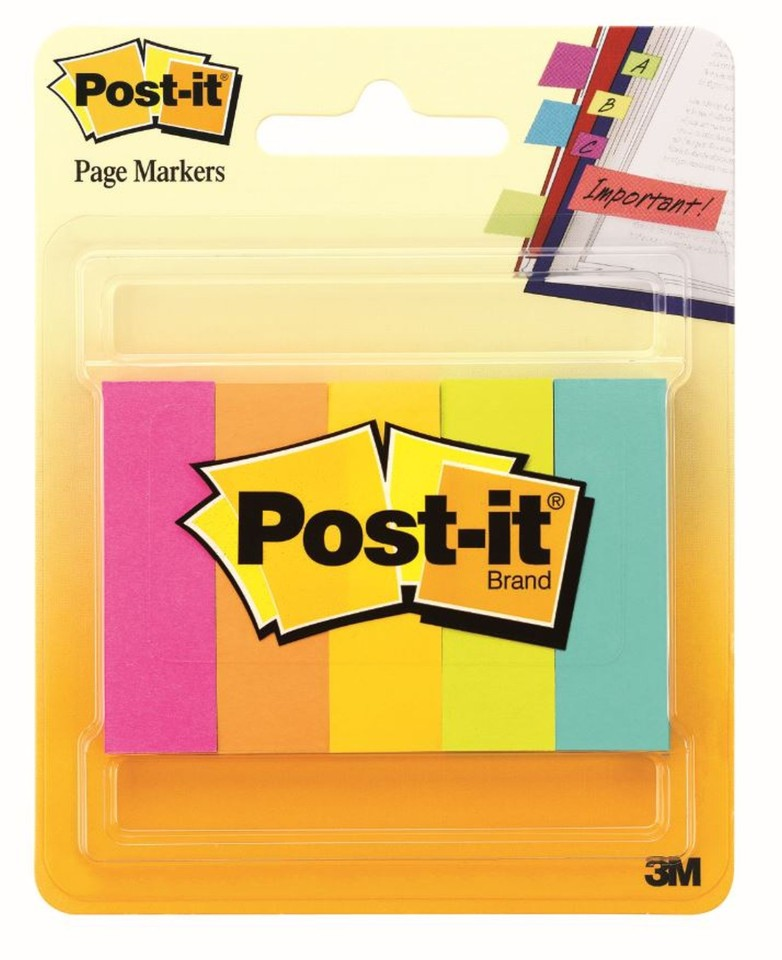 Post-it Page Markers Cape Town Assorted Colours 12.7 x 44.4mm Pack 5