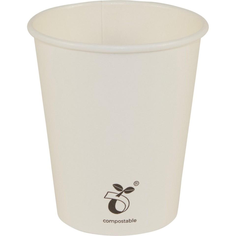 Friendlypak Hot Cold Cup Seedling Art Compostable 6oz (190ml Brim) No Lid Carton 1000