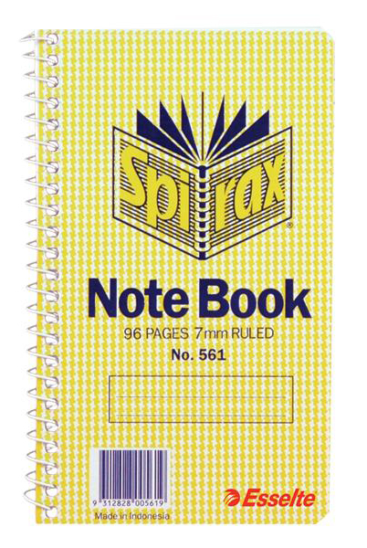 Spirax 561 Notebook Side Opening 147X87mm 96 Page