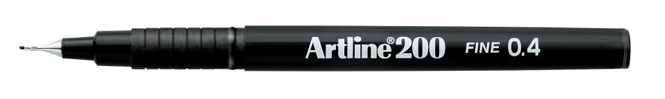 Artline 200 Fineliner Pen Fine 0.4mm Black