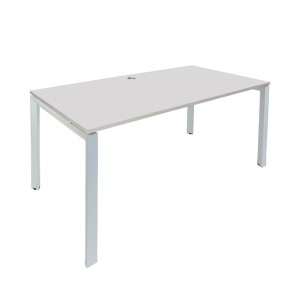 Novah Desk 1200l X 600d White Top With White Frame