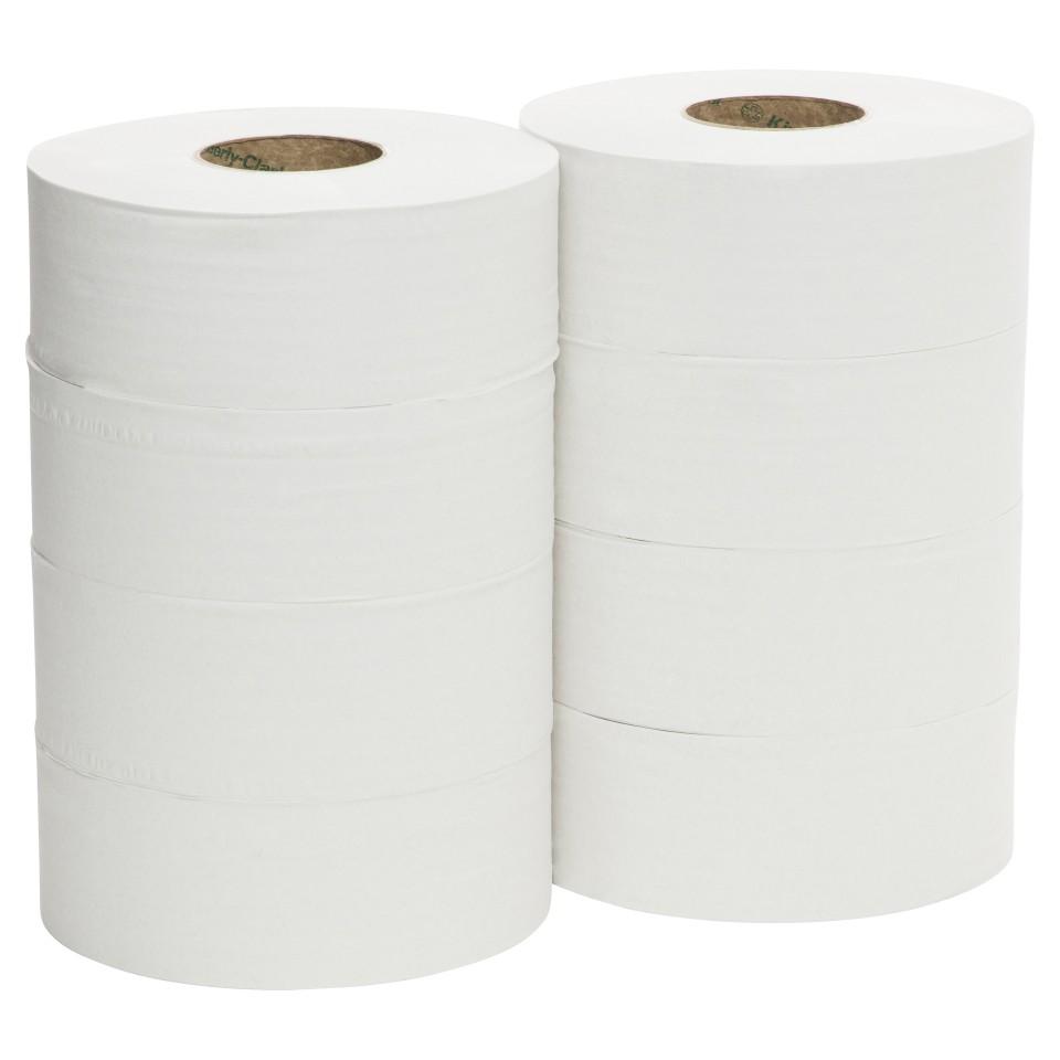 Scott Essential Jumbo Toilet Tissue Roll 2 Ply White 300 meters per Roll 38004 Carton of 8