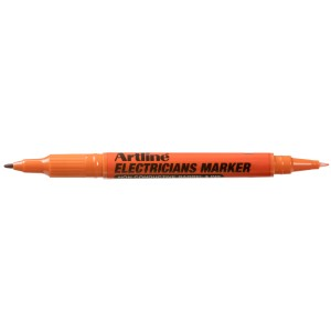 Artline Electricians Marker Dual Nib 1.0mm And 0.4mm Orange