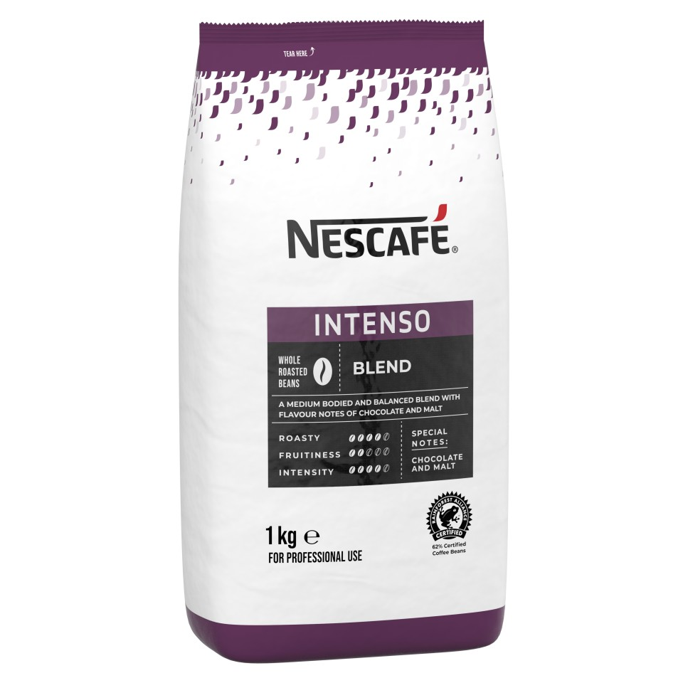 Nescafe Intenso Roasted Beans 1kg Bag
