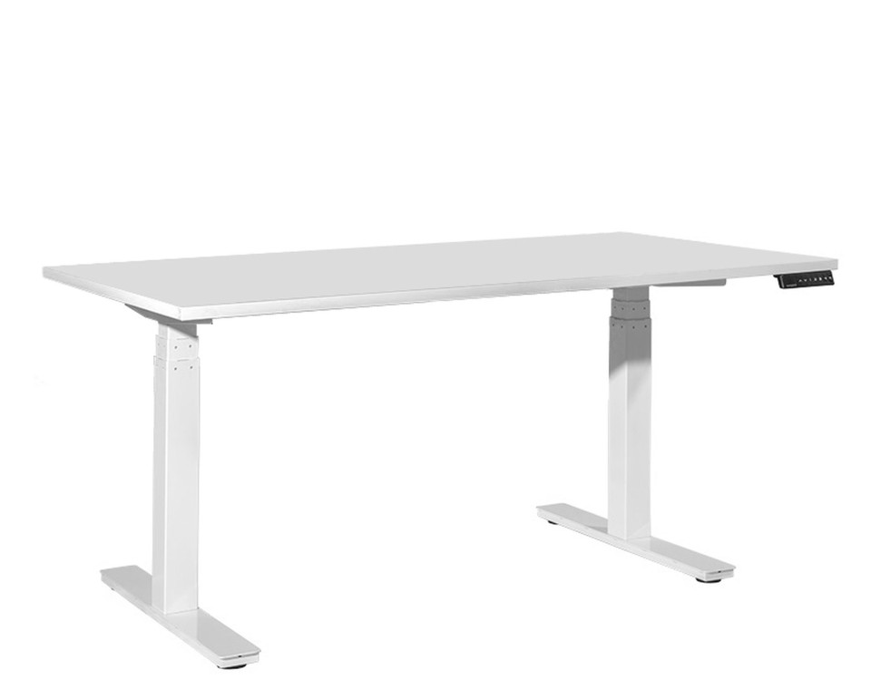 Tidal Premium Sit To Stand Desk 1800w X 800d Mm White Top / White Frame