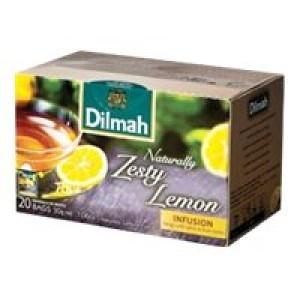 Dilmah Naturally Zesty Lemon Enveloped Tea Bags Pack 20