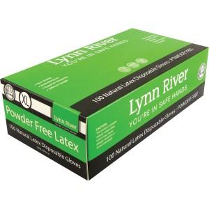 Disposable Latex Powder Free Gloves XL Bx100