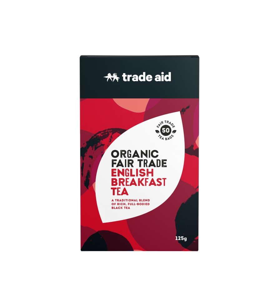 Trade Aid  F/T Organic English Breakfast Black Tea Bags Pack of 50