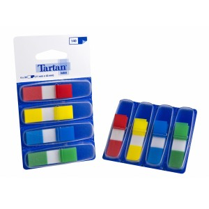 Tartan Flags Mini 12 X 43mm Assorted Colours Pack 140