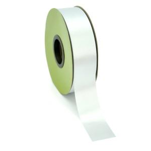 Chiffon Plain Ribbon Cut Edge 25mmx50m - Silver