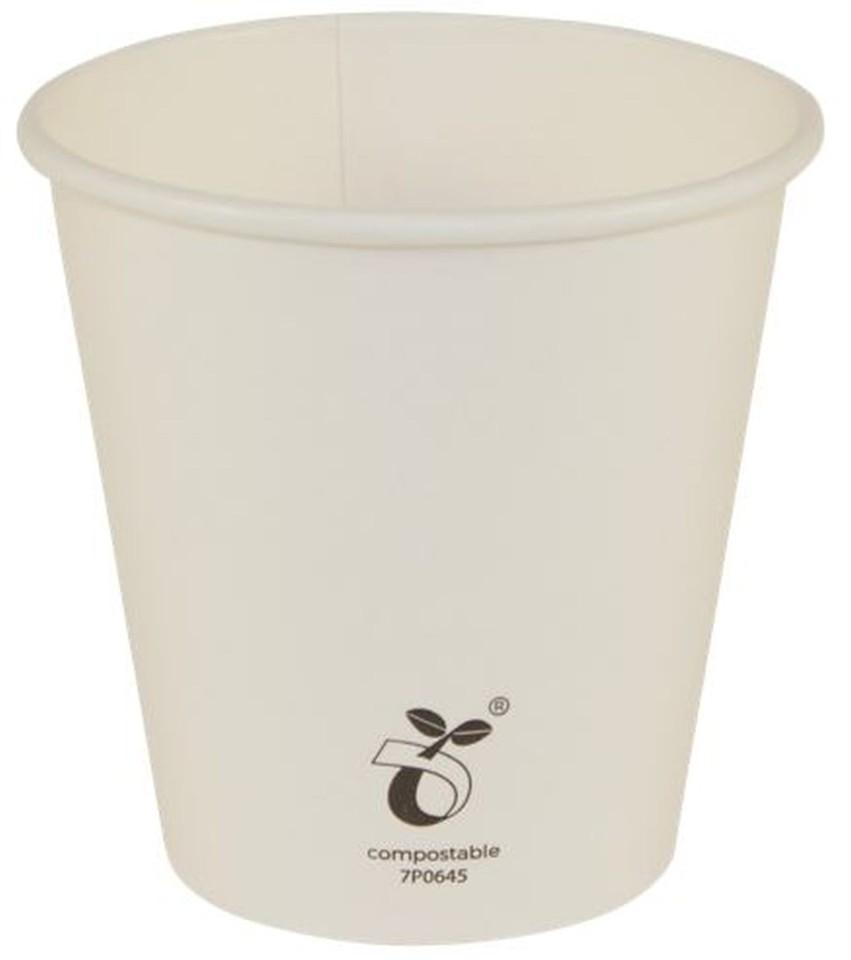 Vegware HCU06 Hot Cup Seedling Art Compostable 6oz (230ml Brim) Fits 79mm Lid Carton 1000