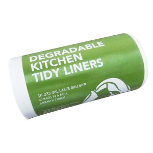 Kitchen Tidy Liner HDPE White 580mm x 710mm 25 micron Pack of 30