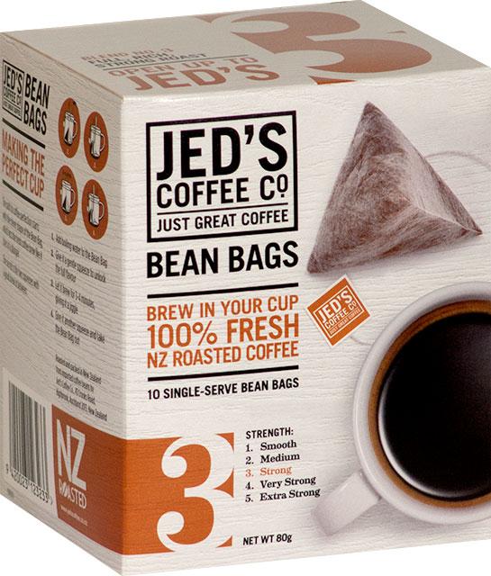 Jed's No. 3 Instant Coffee Bean Bag Box 10