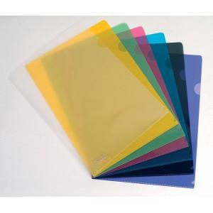 Esselte L-Shape Pockets Assorted Colours Pkt12