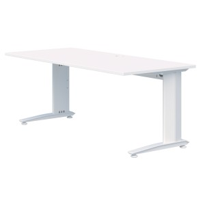 Energy Fixed Height Desk 1200l X 700d Snowdrift Top With White Frame
