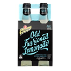 Schweppes Old Fashioned Lemonade Bottle 330ml Pack 4 Image