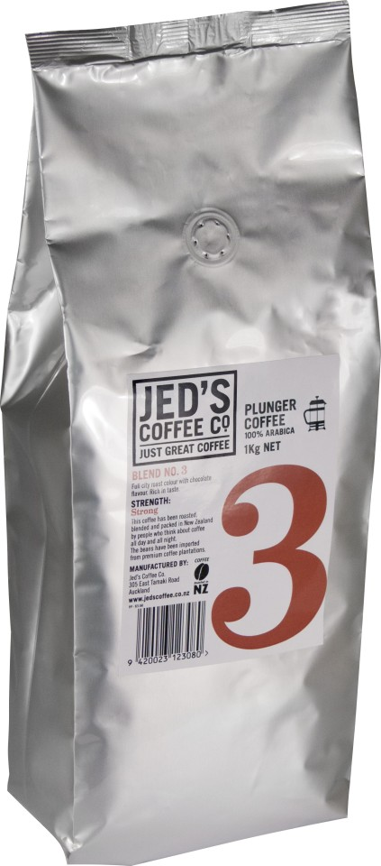 Jed's No. 3 Plunger/Filter Coffee 1kg