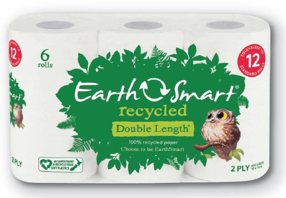 Earthsmart Recycled Toilet Tissue 2 Ply White 400 Sheets per Roll 113401 Pack of 6