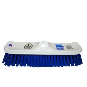 300mm No 600 House Broom Head White Stock Blue Synthetic Fill