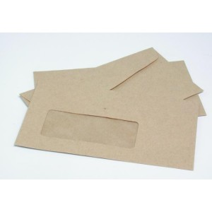 1521 9S Banker Window T/S Envelopes Manilla Bx500 92X165mm