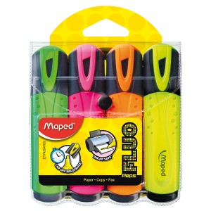 Maped Fluo Peps Highlighter Assorted Box 4