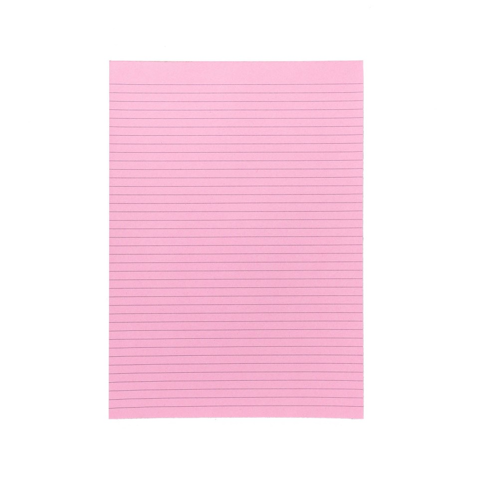 NXP Topless Writing Pad A4 Ruled Pink