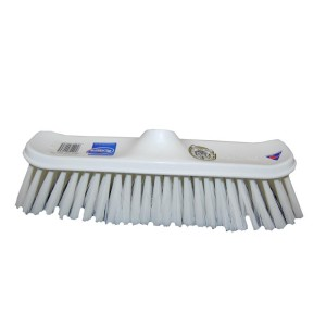 300mm No 600 House Broom Head White Stock White Synthetic Fill